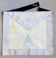 Masonic Past Master Apron - All White (PMA-2VW)