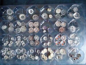 lot d anciens boutons en verre