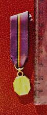 Belgique -Superbe Miniature Médaille d'or Reconnaissance Belge  1940-45 WWII