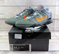 Nike Zoom Kobe 7 VII System Wolf Grey Orange Black 488471-002 Mens Size 8.5