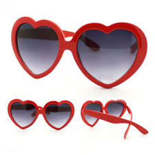 Fashion Funny Summer Love Heart Shape Sunglasses for Women Girls Red