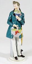ENS VOLKSTEDT - Porzellanfigur KAVALIER Gentlemen Figur - Mühlenmarke - 32cm