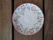 Vintage Churchill Briar Rose Saucer Plate Staffordshire England Floral 5-5/8 Dia