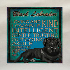 black labrador Lab Dog Fabric Cotton Panel Make A Cushion Upholstery Craft