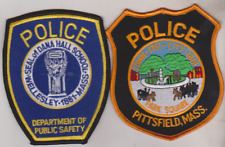 Pittsfield & Wellesley Dana Hall Schools MASS Police patches