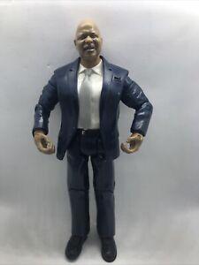 2004 WWF WWE Jakks Theodore Teddy Long Wrestling Figure WCW NWA RARE Blue Suit