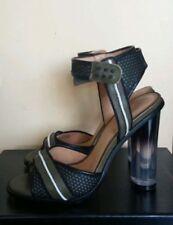L.A.M.B LAMB Carter Women Leather Dress Ankle Strap Sandals Heels Shoes Green 10