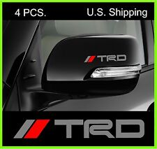 4 TRD Tacoma Stickers Decals Door Handle Wing Mirror Wheels Racing Toyota SILVER