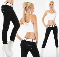 Women's Black Bootcut Jeans Stretch Material Hipster Jeans Belt Included 6-14