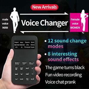 US 12 Different Sound Changes Voice Changer Device Mini Voice Changer Microphone