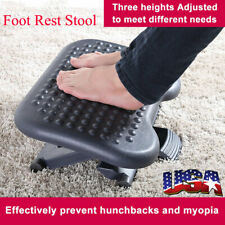 Foot Rest Stool Ergonomic Adjustable Height Portable Comfortable Under Desk Gift