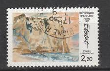 Timbre français oblitéré - Etretat par Delacroix YT2463 année 1987