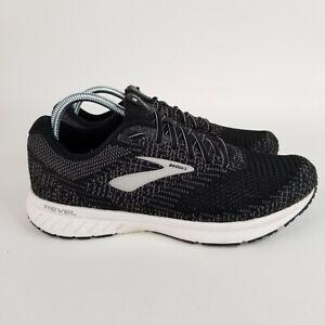 Brooks Revel 3 Mens 10 US 1103141D012 Black White Running Shoes Lace Up