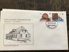 stamps Denmark 🇩🇰 FDC 1990 Europa Stamps -Post Offices, #978,9