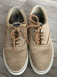 Sperry Top Sider Boat Shoes Men's Size 9.5 M Tan STS22049