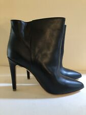 NEW Woman by Common Projects Dark Navy High Heel Ankle Bootie Sz 39 US 8.5 Italy