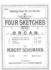 ORGAN   MUSIC,.COLLECTION OF PIECES BY ROBERT SCHUMMANN 4 BOOKS