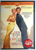 DVD video widescreen How to Lose a Guy in 10 Days Kate Hudson Matthew McConaughe