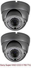 2 Sony Super HAD CCD II 700TVL 2.8-12mm MP Lens 42 IR LED120 ft Vandal IP66 Gray