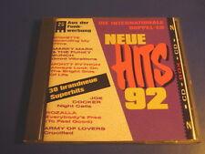 Neue Hits '92 Monty Phyton, Roxette, Tina Turner  Army of Lovers GLENN FREY 2CD
