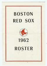 1962 Boston Red Sox Spring Training Roster and Schedule (Media Guide)