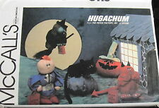 Halloween Witch Pumpkin Devil Cat pattern HUGACHUM Vintage 80s