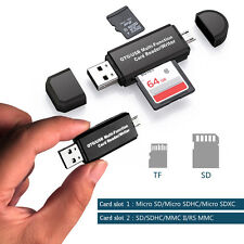 Micro USB to USB 2.0 OTG Converter SD TF Card Reader Writer Adapter for Phone