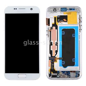 OEM Samsung Galaxy S7 G930V AMOLED LCD Screen Digitizer Frame Black Gold Silver