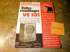 Accesorios destinatarios popular ve 301 W manual de instrucciones
