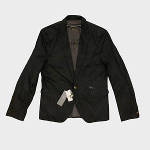 GENUINE Psycho Dandy Mens Jacket Size M Black Shiny Studded Cotton Blazer