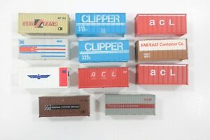 HO Scale 11 Bachmann / Life-Like & Other 20ft Containers