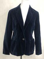 Vintage Women's Velvet Navy Blue Blazer Jacket Size 10 Kirkland Hall Union Made