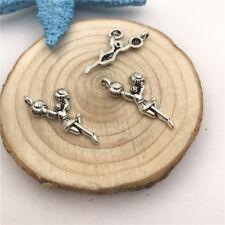 8pcs Jewellery Making Cheerleader  Charms Pendant Tibetan Silver 29x13mm