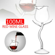1 New 100ml Rose Shaped Wine Glass Red Wine Goblet Party Wine Cocktail Cup