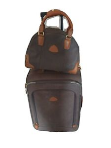Globe-Trotter 2 piece luggage set Brown Textured Leather