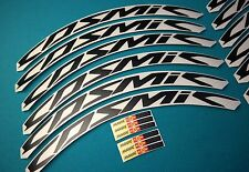 MAVIC COSMIC CARBONE ULTIMATE 40 BLACK COLOR REPLACEMENT RIM DECALS FOR 2 RIMS