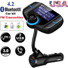Bluetooth 4.2 FM Transmitter Audio Receiver Music Player W/QC 3.0 Quick Charger