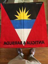 "Antigua & Barbuda flag bandana, head wrap, 22"" X 22"" 100% cotton"