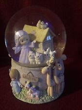 Enesco Precious Moments Snow Globe Noahs Ark By The Beautiful Sea Plays Music