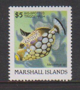 Marshall Islands - 1988, $5 Clown Triggerfish stamp - MNH - SG 162