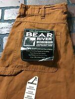 Bear River Workwear Double Knee Front Carpenter Pants Men's Size 34 x 32