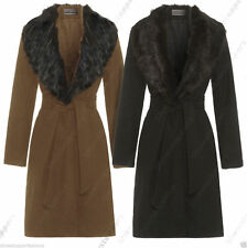 Knee Length Faux Fur Formal Coats & Jackets for Women