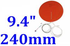 """9.4""""  240mm Round 80W w/ 3M w/ K Type Thermocouple JSRGO CE UL Silicone Heater"""