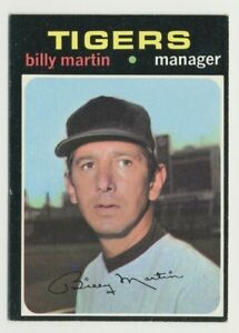 1971 TOPPS DETROIT TIGERS BILLY MARTIN #208