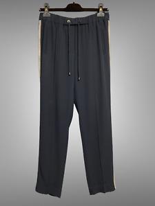 BRUNELLO CUCINELLI Black Sweat Pants Size IT 42 US 6 Drawstring Monili Trim
