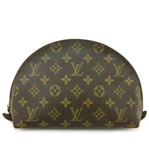 Louis Vuitton Monogram Trousse Demi Ronde Pouch Bag /91943