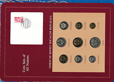 Coin Sets of All Nations USSR Russia w/card UNC all 1979 but 10, 50 Kopecks 1976