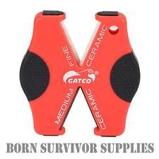 Gatco SUPER MICRO X Knife & Serration Ceramic Sharpener Pocket Sharpening Stone