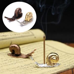 alloy snail incense burner holder flower statue censer plate for sticks cone *BI