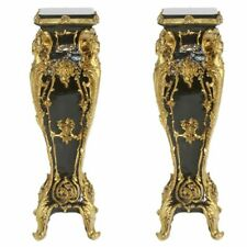 PILLARS BAROQUE STYLE PILLARS WITH MARBLE TOP - BLACK  #MB2